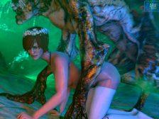 Monstruos y zombies follando a sexys personajes de videojuegos en 3D